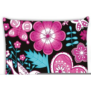 Snoogg  seamless texture with flowers Digitally Printed Cushion Cover Pillow 16 x 16 Inch