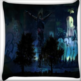 Snoogg Fantasy Digitally Printed Cushion Cover Pillow 16 x 16 Inch