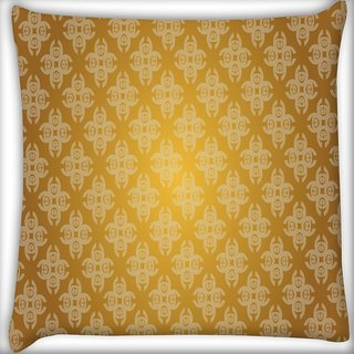 Snoogg Abstract Grey Yellow Pattern Digitally Printed Cushion Cover Pillow 20 x 20 Inch