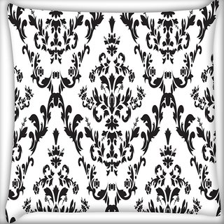Snoogg Grey Color Pattern Digitally Printed Cushion Cover Pillow 20 x 20 Inch