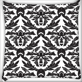 Snoogg Christmas Leaves Digitally Printed Cushion Cover Pillow 20 x 20 Inch