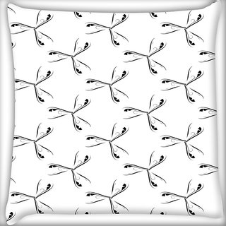 Snoogg Grey Feathers Digitally Printed Cushion Cover Pillow 20 x 20 Inch