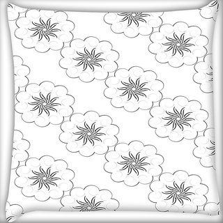 Snoogg Covered Stars Pattern Digitally Printed Cushion Cover Pillow 20 x 20 Inch