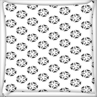 Snoogg Floral Stars Pattern Digitally Printed Cushion Cover Pillow 20 x 20 Inch