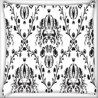 Snoogg Grey Branched Pattern Digitally Printed Cushion Cover Pillow 20 x 20 Inch