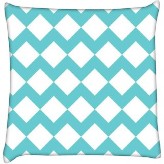 Snoogg waves vs wave 2570  Digitally Printed Cushion Cover Pillow 16 x 16 Inch