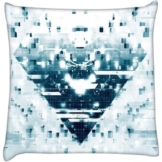 Snoogg exploding mosaic 2627  Digitally Printed Cushion Cover Pillow 16 x 16 Inch