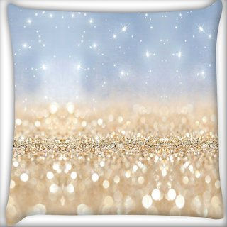 Snoogg sands or crystals Digitally Printed Cushion Cover Pillow 16 x 16 Inch