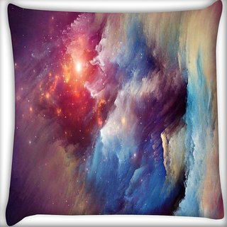 Snoogg universe storm Digitally Printed Cushion Cover Pillow 16 x 16 Inch