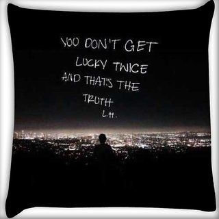 Snoogg You dont get lucky Digitally Printed Cushion Cover Pillow 16 x 16 Inch