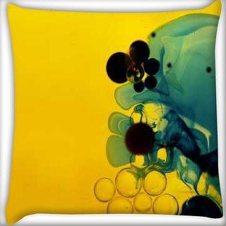 Snoogg Aqua Digitally Printed Cushion Cover Pillow 16 x 16 Inch