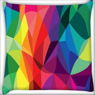Snoogg Super colour pattern Digitally Printed Cushion Cover Pillow 16 x 16 Inch