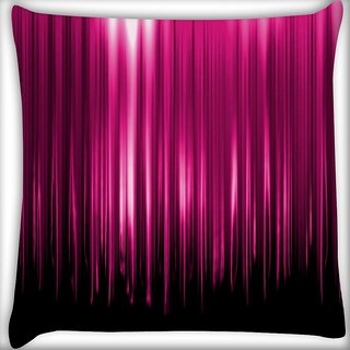 Snoogg Pink Rays Falling Digitally Printed Cushion Cover Pillow 16 x 16 Inch