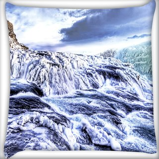 Snoogg Sea View Digitally Printed Cushion Cover Pillow 16 x 16 Inch