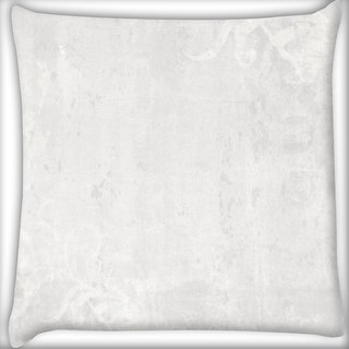 Snoogg White Plain Digitally Printed Cushion Cover Pillow 16 x 16 Inch