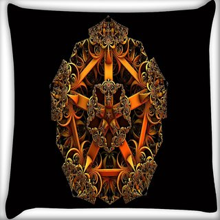 Snoogg Fractal Jewel Digitally Printed Cushion Cover Pillow 16 x 16 Inch