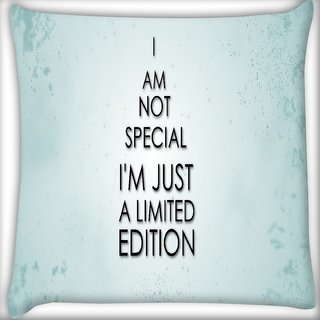Snoogg I M Not Saying Quote Digitally Printed Cushion Cover Pillow 16 x 16 Inch