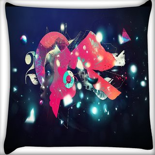 Snoogg Street Lights Digitally Printed Cushion Cover Pillow 16 x 16 Inch