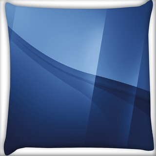 Snoogg Awesum Blue Design Digitally Printed Cushion Cover Pillow 16 x 16 Inch