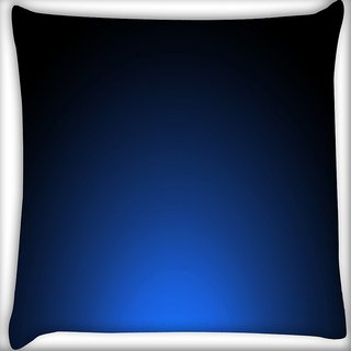 Snoogg Glowing Blue Design Digitally Printed Cushion Cover Pillow 16 x 16 Inch