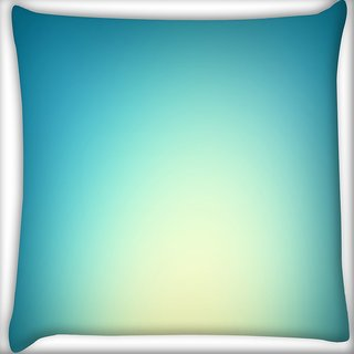 Snoogg Lite Blue Background Digitally Printed Cushion Cover Pillow 16 x 16 Inch