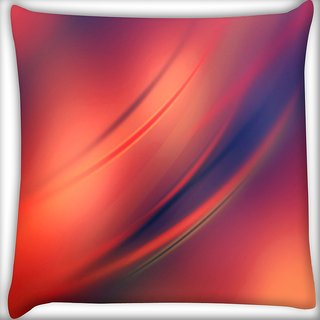 Snoogg Red And Orange Background Design Digitally Printed Cushion Cover Pillow 16 x 16 Inch