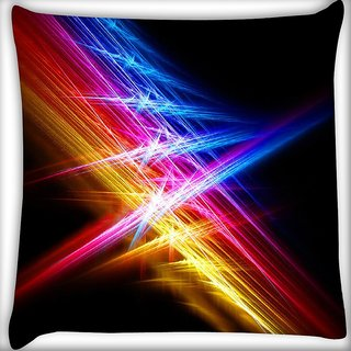 Snoogg Attracting Multiple Lights Digitally Printed Cushion Cover Pillow 16 x 16 Inch