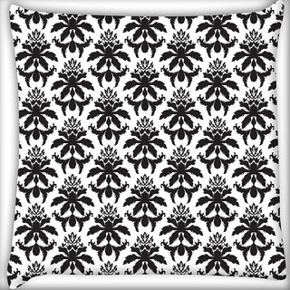 Snoogg Dark Black Pattern Digitally Printed Cushion Cover Pillow 20 x 20 Inch