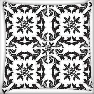 Snoogg Circles Pattern Grey Digitally Printed Cushion Cover Pillow 20 x 20 Inch