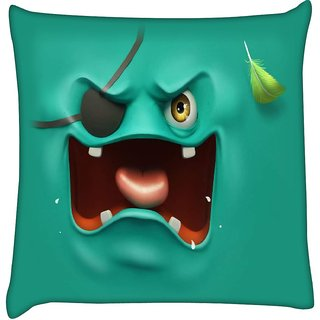 Snoogg pirate ghost 2682  Digitally Printed Cushion Cover Pillow 16 x 16 Inch