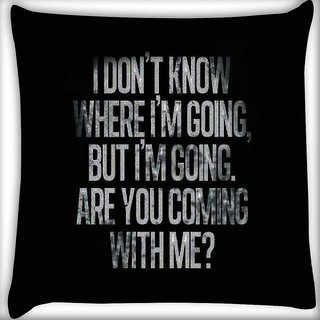 Snoogg Are you coming ? Digitally Printed Cushion Cover Pillow 16 x 16 Inch