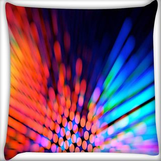 Snoogg city light haze Digitally Printed Cushion Cover Pillow 16 x 16 Inch
