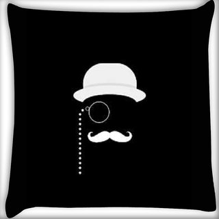 Snoogg minimal detective Digitally Printed Cushion Cover Pillow 16 x 16 Inch