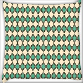 Snoogg Simple motif Digitally Printed Cushion Cover Pillow 16 x 16 Inch