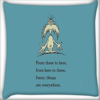 Snoogg Funny thing everywhere Digitally Printed Cushion Cover Pillow 16 x 16 Inch