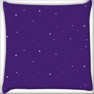 Snoogg Snow graphic purple Digitally Printed Cushion Cover Pillow 16 x 16 Inch