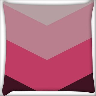 Snoogg Large chevron Digitally Printed Cushion Cover Pillow 16 x 16 Inch