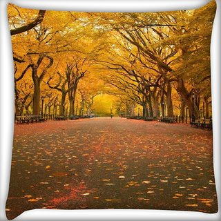 Snoogg 7 Digitally Printed Cushion Cover Pillow 16 x 16 Inch