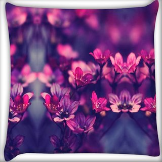 Snoogg serene flowers Digitally Printed Cushion Cover Pillow 16 x 16 Inch