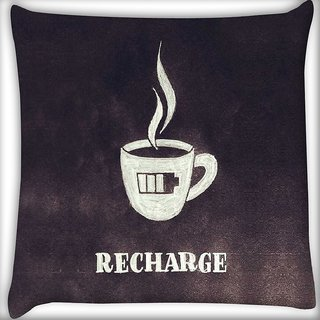 Snoogg Recharge Digitally Printed Cushion Cover Pillow 16 x 16 Inch