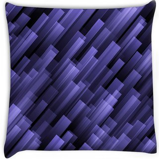 Snoogg  abstract violet background Digitally Printed Cushion Cover Pillow 16 x 16 Inch