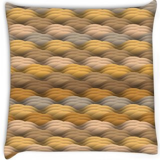 Snoogg  endless texture in warm colors Digitally Printed Cushion Cover Pillow 16 x 16 Inch