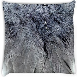Snoogg  feathers 2 texture  Digitally Printed Cushion Cover Pillow 16 x 16 Inch