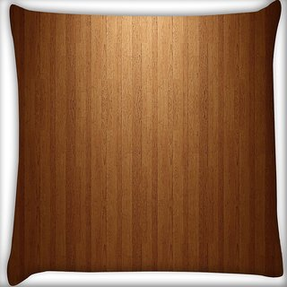 Snoogg Wood Wall Digitally Printed Cushion Cover Pillow 16 x 16 Inch