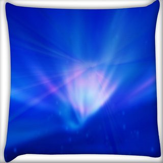 Snoogg Blue In Abstract Wide Digitally Printed Cushion Cover Pillow 16 x 16 Inch