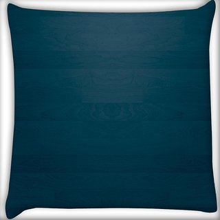 Snoogg Blue Wood Pattern Digitally Printed Cushion Cover Pillow 16 x 16 Inch