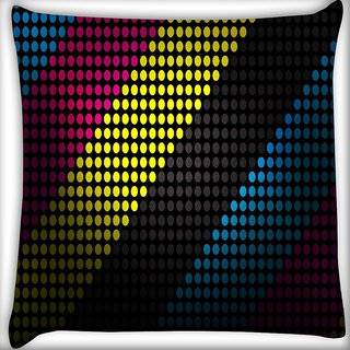 Snoogg Techno Desktop Digitally Printed Cushion Cover Pillow 16 x 16 Inch
