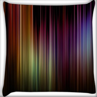 Snoogg Moody Blues Cobalt Digitally Printed Cushion Cover Pillow 16 x 16 Inch
