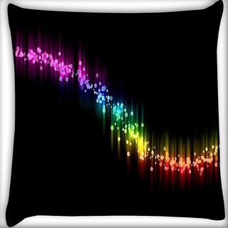 Snoogg Multicolor Sparkling Small Spots Digitally Printed Cushion Cover Pillow 16 x 16 Inch