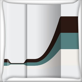 Snoogg Black Pathway In White Background Digitally Printed Cushion Cover Pillow 16 x 16 Inch